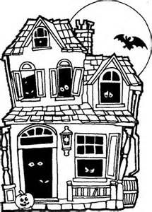 Printable Halloween Coloring Pages Haunted House