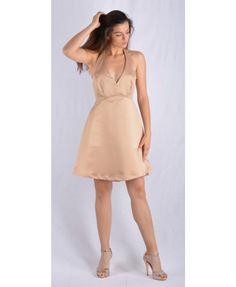 Χρυσό παραμυθένιο φόρεμα, με υπέροχη ποιότητα και εξαιρετικό σχέδιο. Εξώπλατο, ασύμμετρο και μίνι που το κάνει σίγουρα μοναδικό για να κάνετε τη διαφορά. Κατασκευασμένο στην Ελλάδα απο 100 % πολυεστέρα. Mini Dresses, Backless, Fashion, Moda, Fashion Styles, Fashion Illustrations, Short Dresses