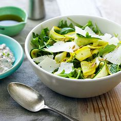 Summer Squash Carpaccio and Shaved Cheese Salad