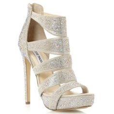 poco infinito cheque  Gorgeous Steve Madden Spycee heel | Sandals heels, Rhinestone heels, Heels