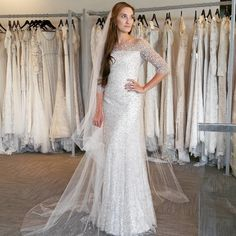 Chances are you can still find a designer gown to suit your needs. This dress was made by Jenny Packham. Image Source: Instagram user altamodabridal