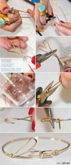a.n.i.m.é.: Faire un bracelet en coeur - DIY tout en images
