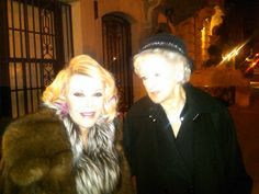 With the wonderful, fabulous Elaine Stritch!