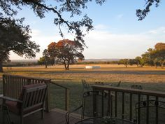 View from the porch at Pedernales Cellars