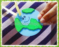 Medalha do Planeta - Lembrancinha para o Dia da Terra e o Dia Mundial do Meio Ambiente.