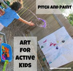 Paint throwing with bleeding tissue paper
