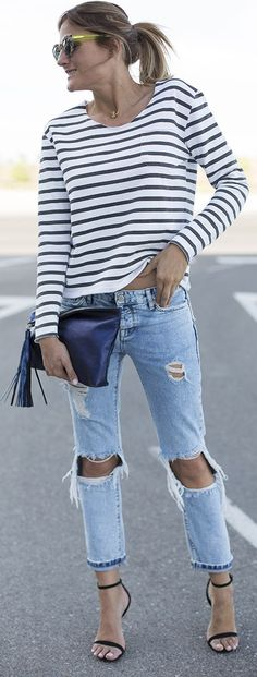 Navy Mood Casual Style