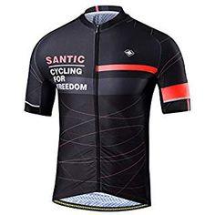 SANTIC Cycling Jerseys Men s Short Sleeve Full Zip Bike Jersey With Pockets 4b1a77e5d
