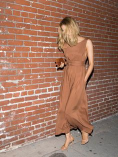 Jesse Kamm Palma Dress - Almond