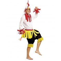 Disfraz de Gallo Disfraces de Gallos Adultos Original Disfraz de Gallo para hombre compuesto por gorro, camisa y pantalón. Ideal para tu fiesta de disfraces de carnaval de gallos o para tu fiesta de disfraces Originales animales.