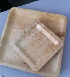 Bamboo square plates!