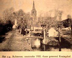 Zicht op de kerk vanaf het Achterom in 1900.