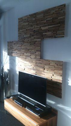 mooi gebruik van onze houtstrips, wandpaneel gemaakt voor klant, deze ...