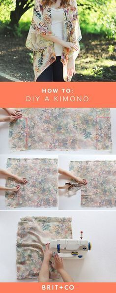 Save this for an easy guide on how to DIY this gorgeous kimono.