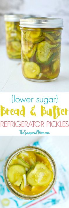 No canning necessary! With just a few minutes of hands-on time, you can have fresh, sweet, and tangy Lower Sugar Bread and Butter Refrigerator Pickles ready to enjoy.  This clean eating snack is perfect for adding to salads, stuffing inside sandwiches, or enjoying on its own!