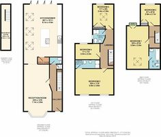 5 bedroom terraced house for sale in Crystal Palace Road East Dulwich - Rightmove. Loft Floor Plans, Loft Plan, Kitchen Floor Plans, House Floor Plans, Kitchen Extension Victorian Terrace, Victorian Terrace House, House Extension Plans, House Extension Design, Side Extension