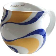 Wave Coffee Mug Luigi Colani Colour: Gold and blue Coffee Mug Sets, Mugs Set, Coffee Cups, Tea Cups, Luigi, Colani, Mug Tree, Cappuccino Mugs, China Cups And Saucers