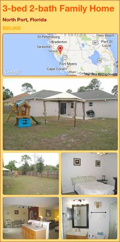 3-bed 2-bath Family Home in North Port, Florida ►$80,000 #PropertyForSale #RealEstate #Florida http://florida-magic.com/properties/72527-family-home-for-sale-in-north-port-florida-with-3-bedroom-2-bathroom