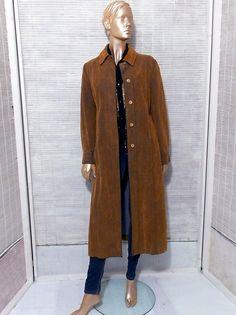 Vintage denim long jacket overcoat southwestern duster by IuSshop