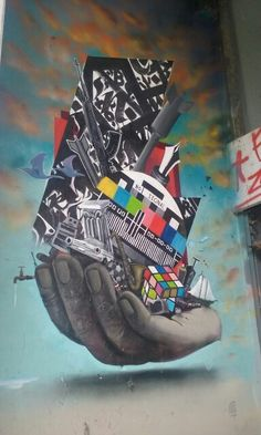 Street art - Athens, Greece Street Art, Oeuvre D'art, Athens Greece, Info, Multicoloured Art, Political Art, Brush Strokes, Walls, City