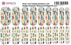 Feathers and bugs Jamberry Nail Wraps Nail Art Studio Manicure, pedicure, nails, designer, nail art