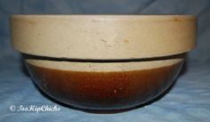 Vintage Brown and Tan Medium Stoneware Pottery by TooHipChicks, $16.85