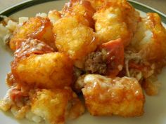 """The Menu: Pizza Tot Casserole  The Original Recipe:  Why didn't I ever think of this!?! This was super good. My one son said """"Now this is a ..."""