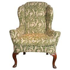Queen Anne Antique Walnut Wing Chair C.1710 | 1stdibs.com
