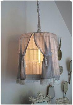 Birdcage lampada fai da te con tende