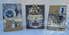 """Original"" card set by Authentique Paper dt member Guiseppa Gubler #Authentique Paper #ScrapbookAdhesivesBy3L"