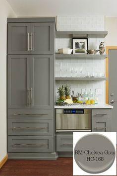 10 Timeless Grays for the Kitchen-Benjamin Moore/ Chelsea Gray. Designer/ Fiddlehead Design Group