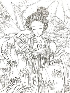 Flower rhyme chinese coloring book for adult image 2 Coloring Pages For Grown Ups, Adult Coloring Book Pages, Cute Coloring Pages, Coloring Books, Print Pictures, Colorful Pictures, Drawing Sketches, Drawings