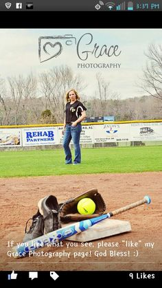 Softball pictures. This would be cute with her turned around so you could get her number