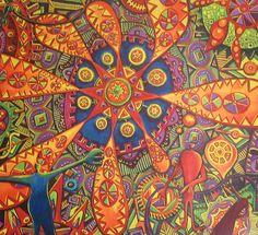 """""""Caro en el país de las maravillas""""  acrylic on canvas  180 x150 cm, (sold)"""