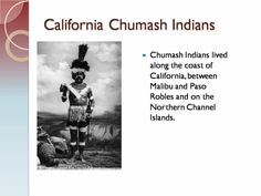 CCSS technology project, California Chumash Indians