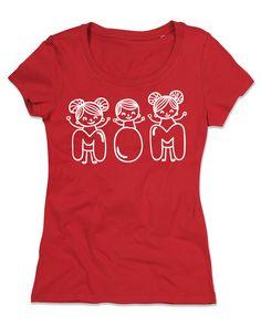 T-shirt Personalizzate Donna Girocollo Cotone Organico  FESTA DELLA MAMMA 2 di TshirtByBrand su Etsy
