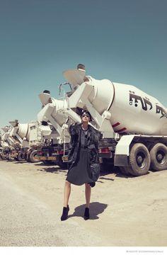 Tao Okamoto Wears Sleek & Modern Style for Bergdorf Goodman's Fall Catalogue