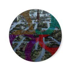 CITI SCAPE Improvisation Landscape Architecture Round Stickers