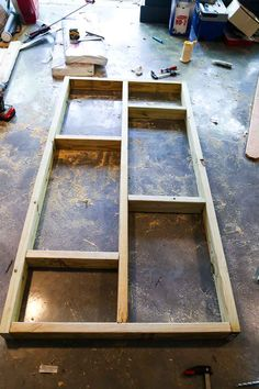 This small wooden shed is big enough to store a lawn mower and some gardening supplies. We'll show you how to build one just like it in your backyard. Building A Storage Shed, Storage Shed Plans, Backyard Sheds, Outdoor Sheds, Garden Sheds, Lean To Shed, Small Sheds, Big Sheds, Shed Kits