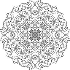 A free sample from our adult coloring book, Meditative Mandalas Volume 1, available at http://www.iheartcoloring.com