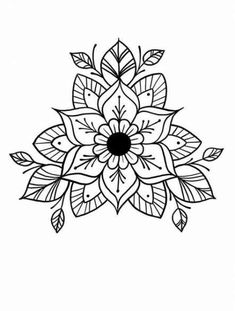 Most up-to-date Images Embroidery Patterns mandala Strategies Embroidery patterns mandala doodles 37 ideas Mandala Tattoo Design, Dotwork Tattoo Mandala, Mandala Doodle, Henna Designs, Tattoo Designs, Tattoo Ideas, Mandalas Drawing, Flower Mandala, Mandala Coloring