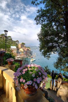 Colorful houses, Cliffside, Emiia-Romagna, Italy