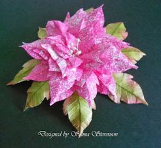 Selma's Stamping Corner and Floral Designs: Susan's Garden Speckled Poinsettia Tutorial