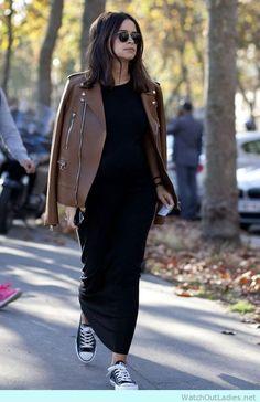 Miroslava Duma maxi dress with jacket