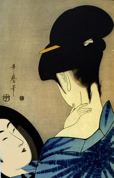 by Kitagawa Utamaro. In traditional Japanese society the bare neck is considered…