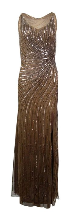 Patra Women's Boat Neck Sequined Chiffon Dress ** Hurry! Check out this great product : mother of the bride dresses