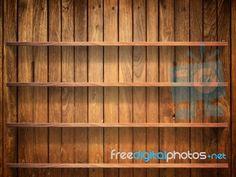 Wood Shelf On Wood Wall