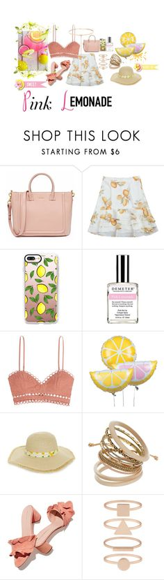 """Pink Lemonade"" by trickpink ❤ liked on Polyvore featuring Casetify, Demeter Fragrance Library, Zimmermann, BP., Loeffler Randall, Accessorize and Shay"