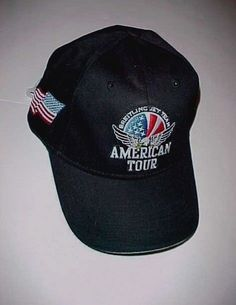 Breitling Jet Team American Tour USA Adult Unisex Black White Cap One Size  New 383fc98c2951
