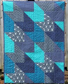 Handmade Baby, Toddler Boy Quilt, Deer and Arrow, Navy Blue, Grey, Teal and White, 100% Cotton, nursery decor, crib quilt by HappyCloudCreations on Etsy